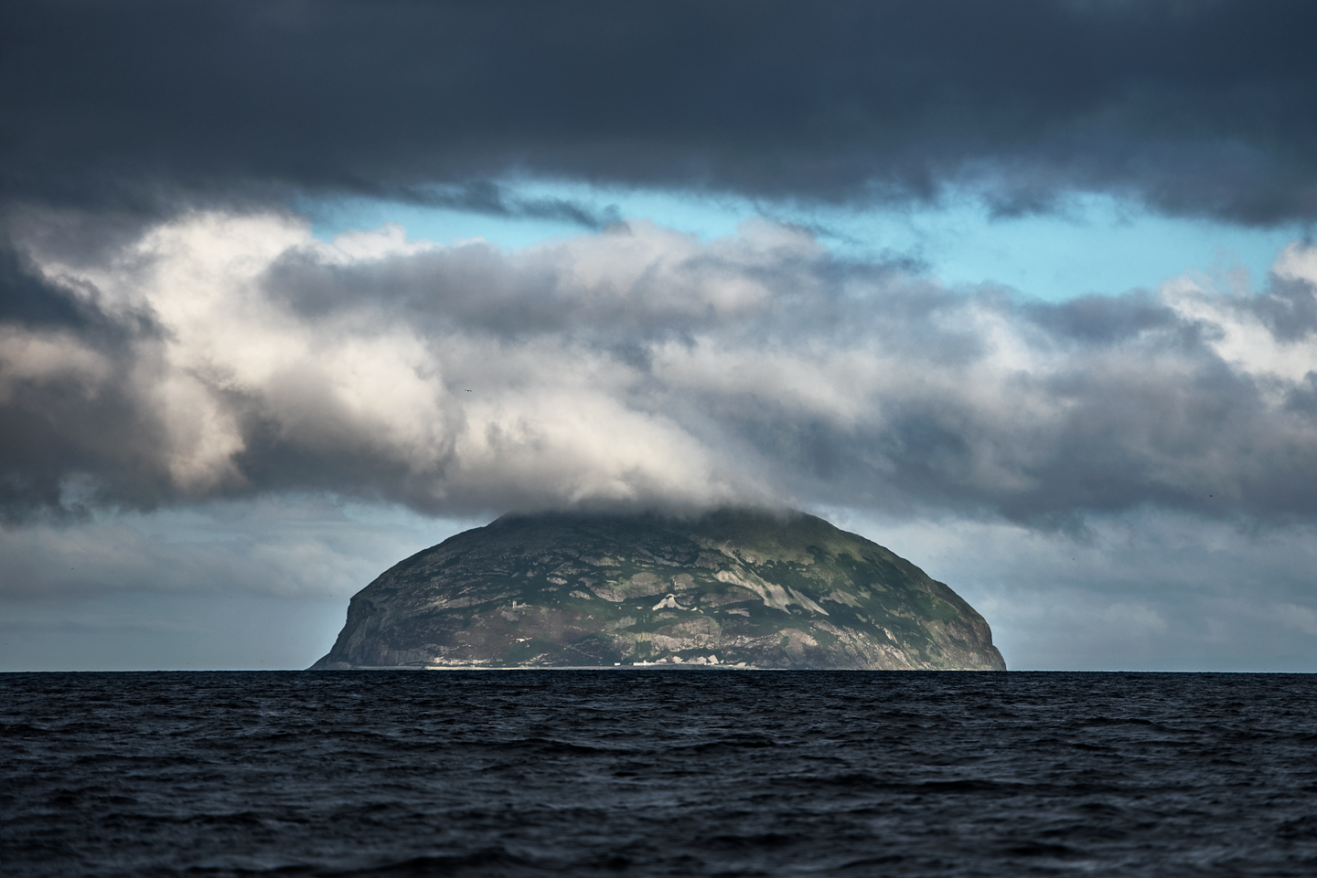Ailsa Craig in the Firth of Clyde is another study site with 36 000 breeding pairs of gannets. This granite rock is formed from the volcanic plug of an extinct volcano