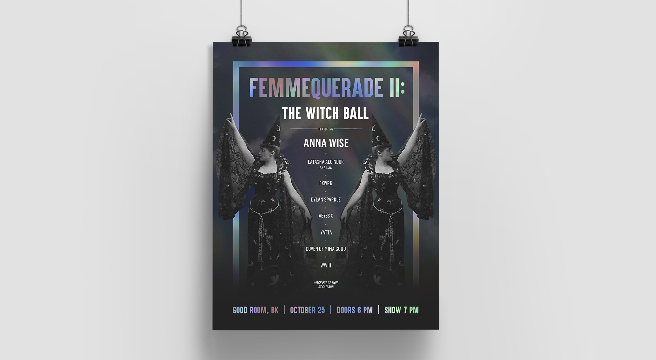 Poster for Femmequerade ii: The Witch Ball at Good Room, BK