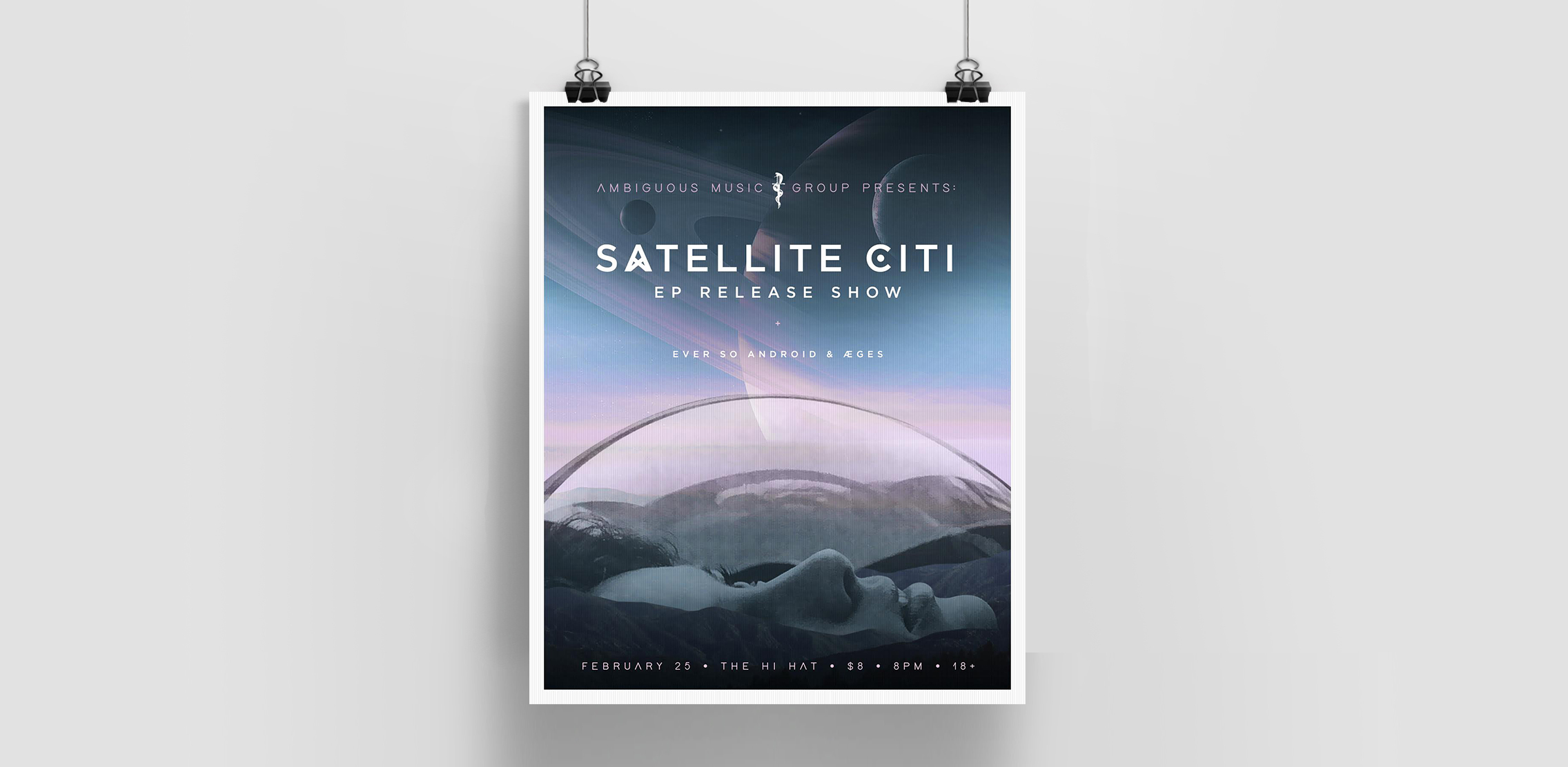 Poster for Satellite Citi at The Hi Hat, LA