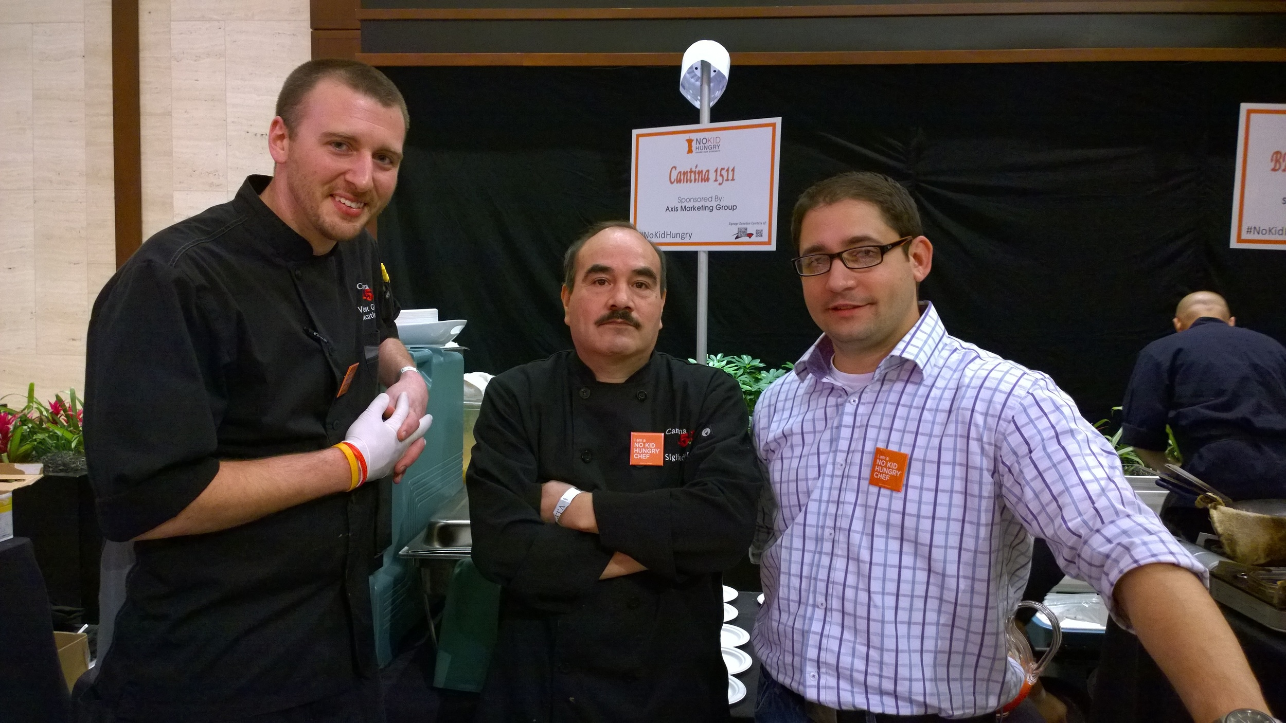 Chef VInce Giancarlo, Chef Sigifredo Ortiz, and GM VInce Ponzio