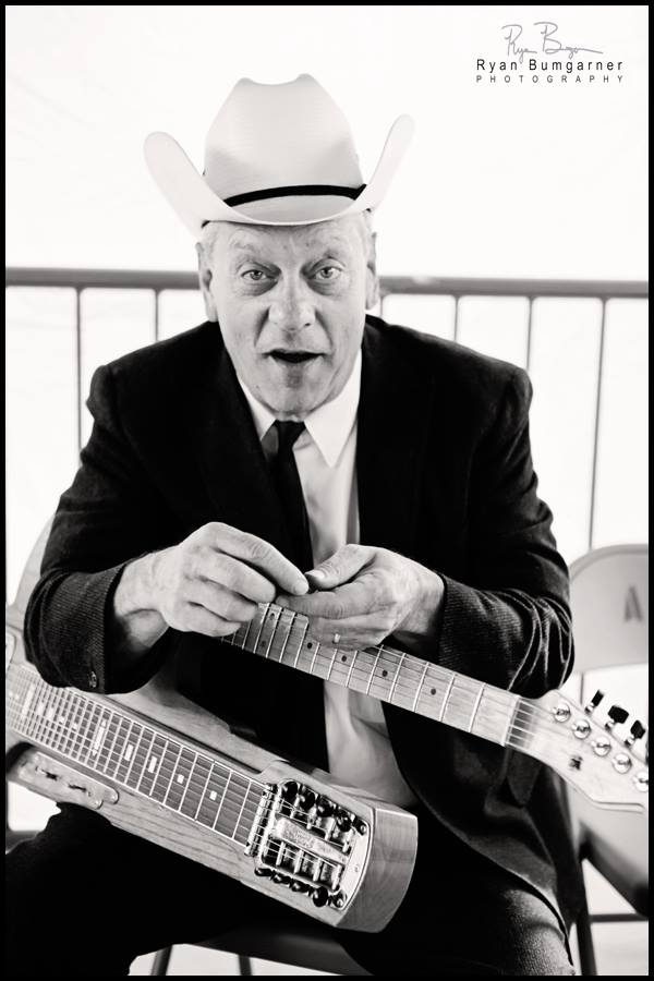 Junior Brown and his invention the  Guit-Steel.