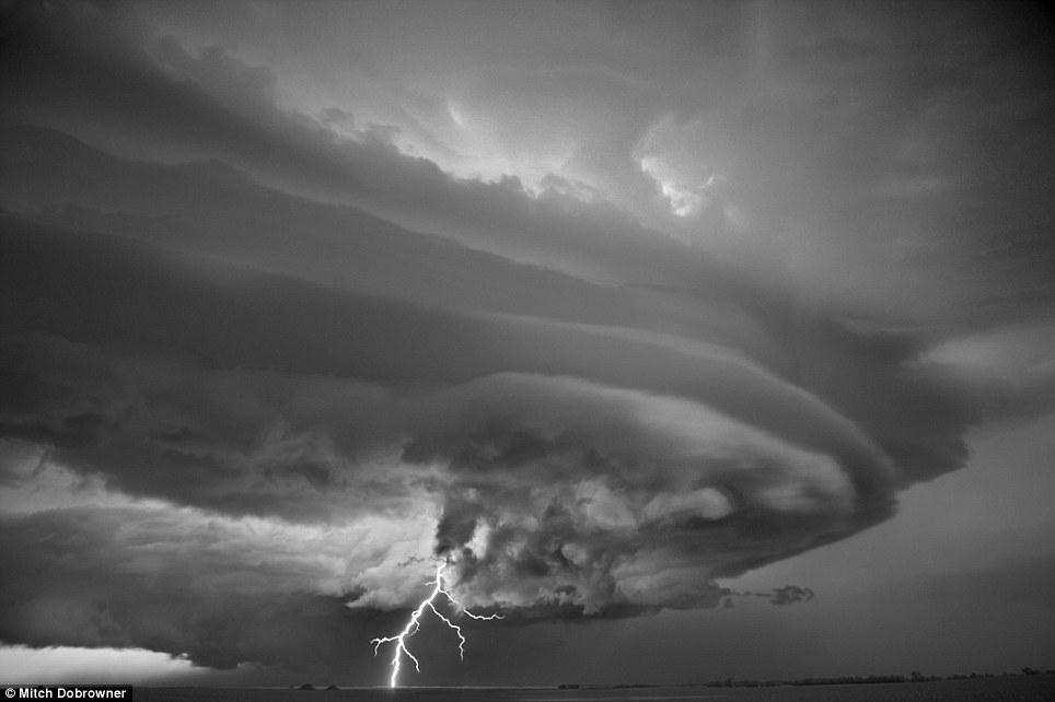 'Jupiter': This swirling storm was captured outside Mobridge, South Dakota, in 2011    Mitch Dobrowner