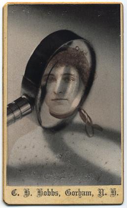 © Rachel Phillips Divination by Small Object  unique transfer to original carte de visite