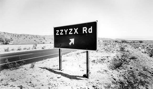 © Robert Dawson,      Road to Zzyzx, California
