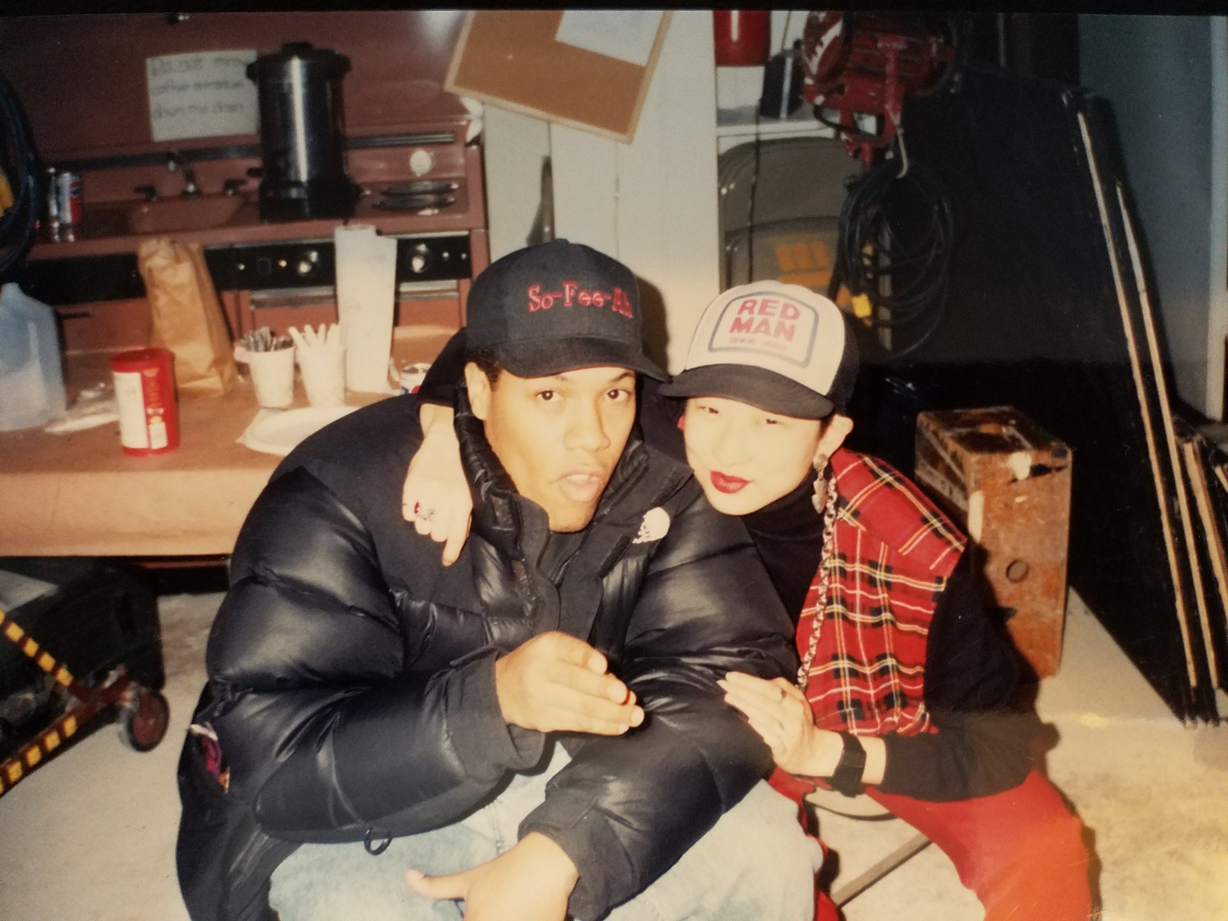 Redman and I in '91. Notice the hat swap.