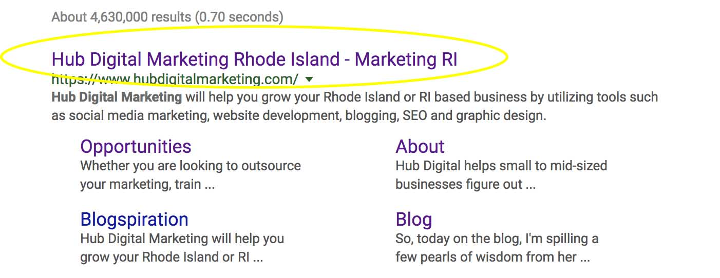 Meta titles - digital marketing, rhode island.