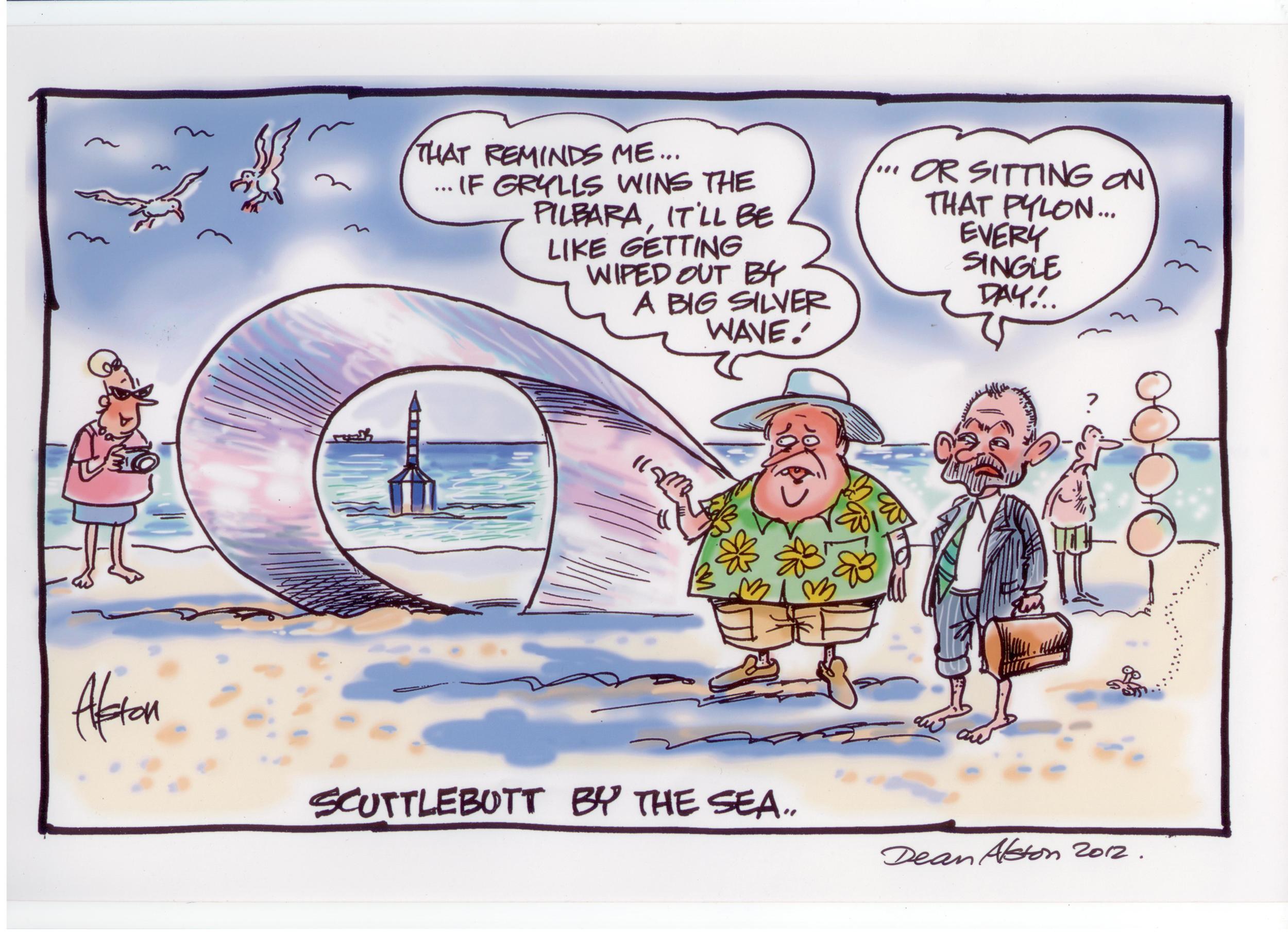 Dean Alston comic from the Western Australian newspaper