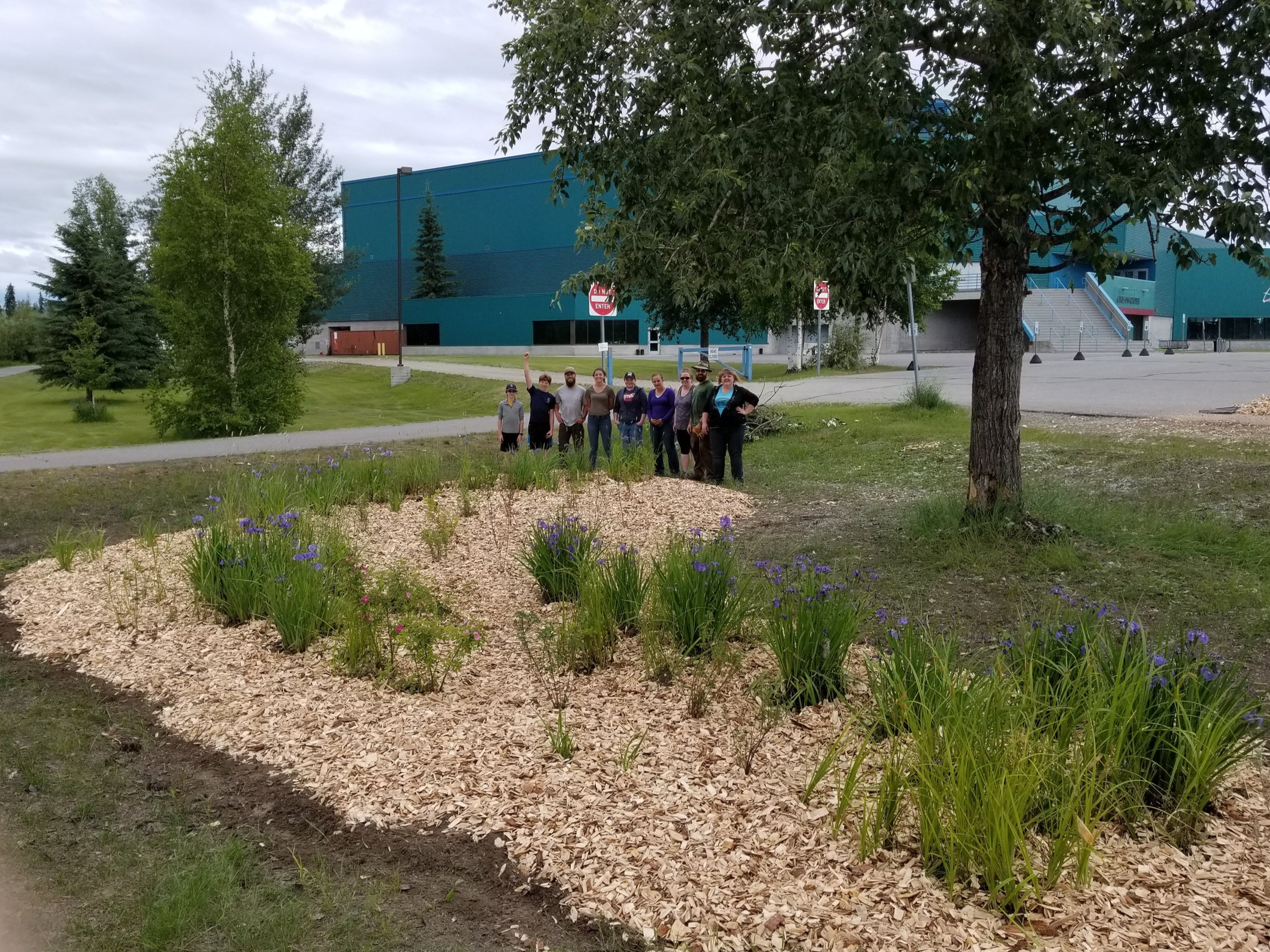 Rain Garden completion at the Carlson Center in 2017!