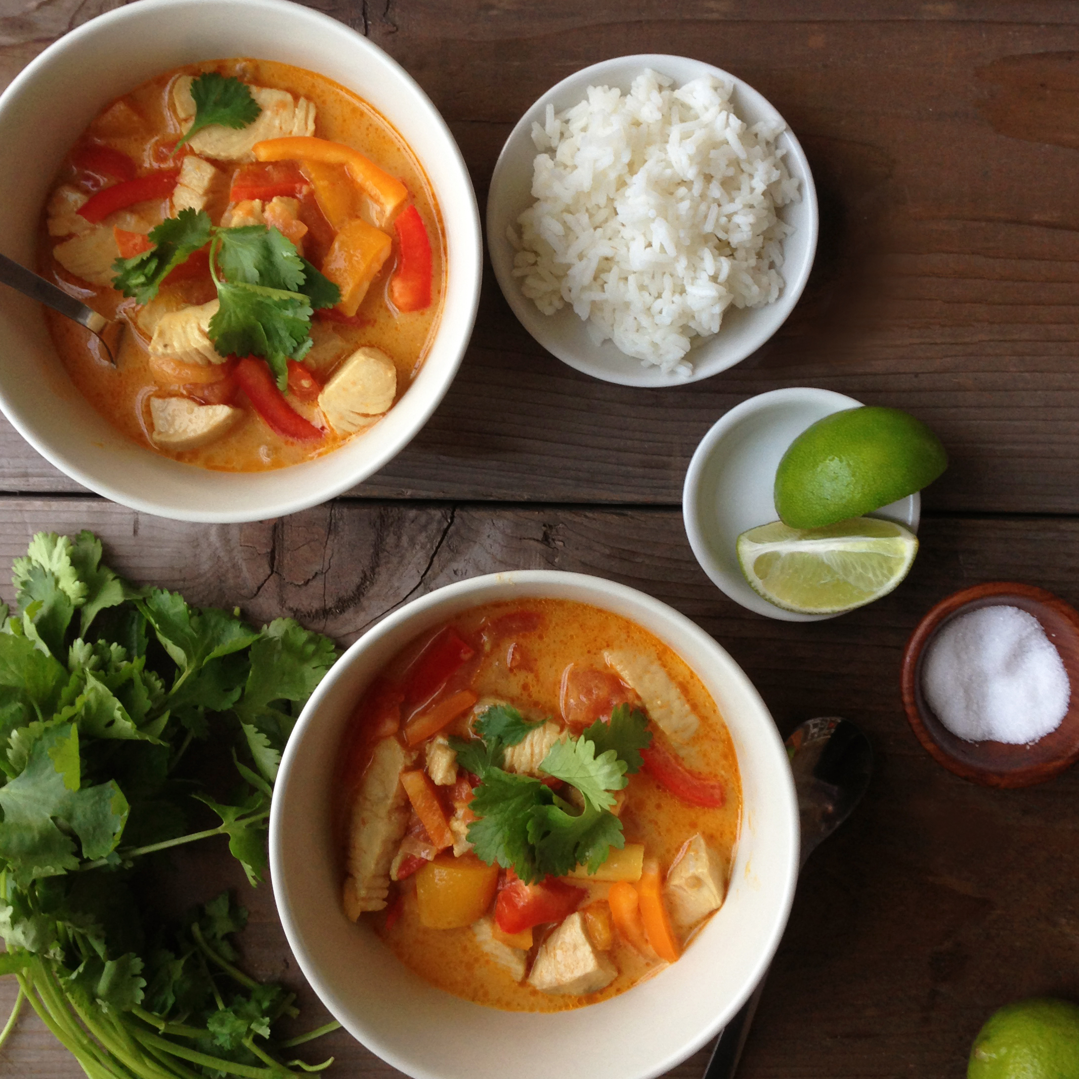 Thai lemongrass coconut soup