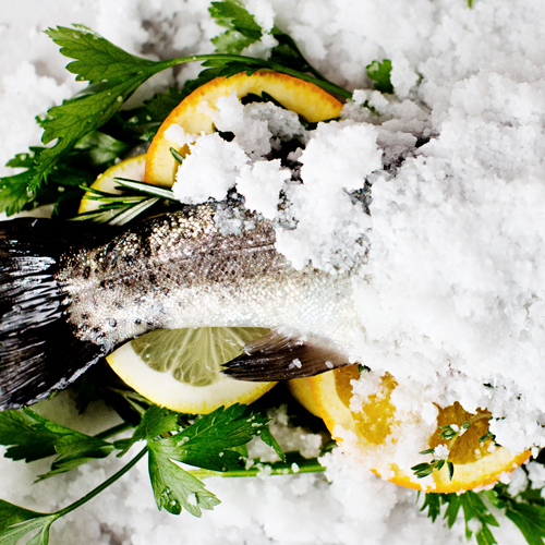 Salt-Fish Trout with Citrus and Herbs