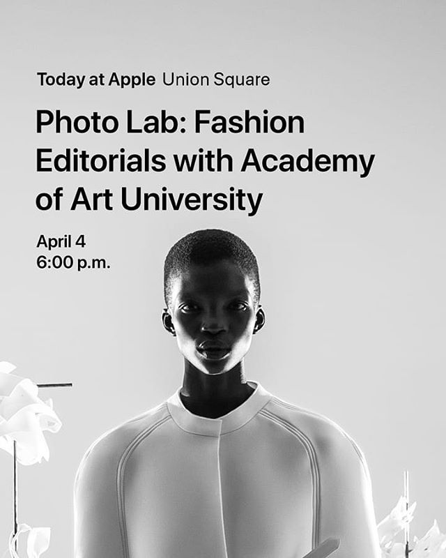 AcademyUStyling event @apple Union Square SF on April 4th from 6pm to 7.30pm - This is huge!!! Clear your schedule 🔥🔥🔥 and sign up on the link in our bio 👆🏽 it is open to everyone, and I mean everyone 😃 - Style and photograph a fashion shoot with Flore Morton, associate director of the Academy of Art University School of Fashion. Morton, along with AAU students and alumni, will share how to pose models, get the right lighting, and capture the ideal look using iPhone. Then you'll practice staging and photographing an editorial shoot of your own. Devices will be provided. - 300 Post Street San Francisco, CA 94108 -  @floremorton will be joined by:  Alumni Krystyn Nakamura @krystynkikuestyling successful freelance stylist in the city and BFA Fashion Styling graduate. Alumni Robert Bala @bala_x_robert successful artist agent at @lookartists and BFA Fashion Styling graduate. Senior student Nakia Pleasant @nakiapleasant currently sample coordinator at @charlotterusse who will graduate in Spring 2019. Finally Danielle Rueda @danielle_rueda @academyustyling staff photographer. - Credits photo: Photographer @rumbleinmajungle  Styling and art direction @floremorton  Model @real_achok  Makeup @victorcembellin For #180magazine - #todayatapplesf #todayatapple #apple #fashionevent #photo #sfphoto #sfstylist #stylist #fashionschool #wherestylistsaremade #academy_of_art #academyufashion #blackmagic #fashiontech