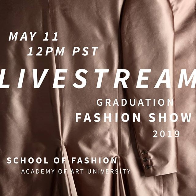 Coming up, our highly anticipated graduation fashion show on May 11. 🔥🔥🔥 Our livestream will be at 12PM at academyart.edu/runway.  San Francisco Fashion Industry, please DM us if you are interested to attend in person and support our crop of new talents!  #fashionschool #fashionshow #fashiondesigner #academy_of_art #academyufashion