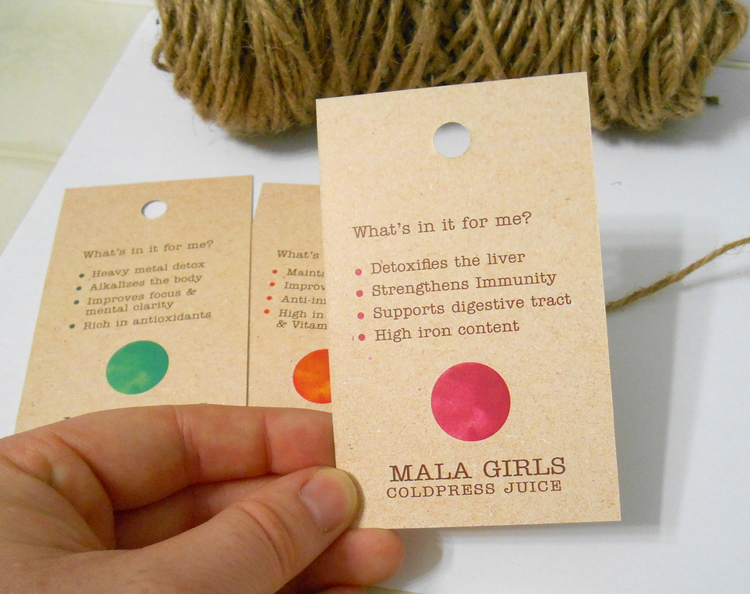 MALA GIRLS JUICE LABLE DESIGN & BRANDING