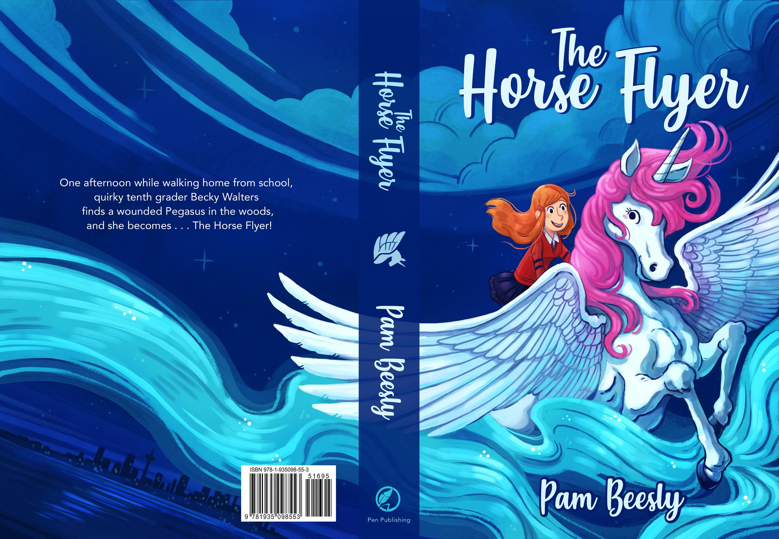 Cover Design I did for Pam Beesly's  The Horse Flyer  book   from The Office