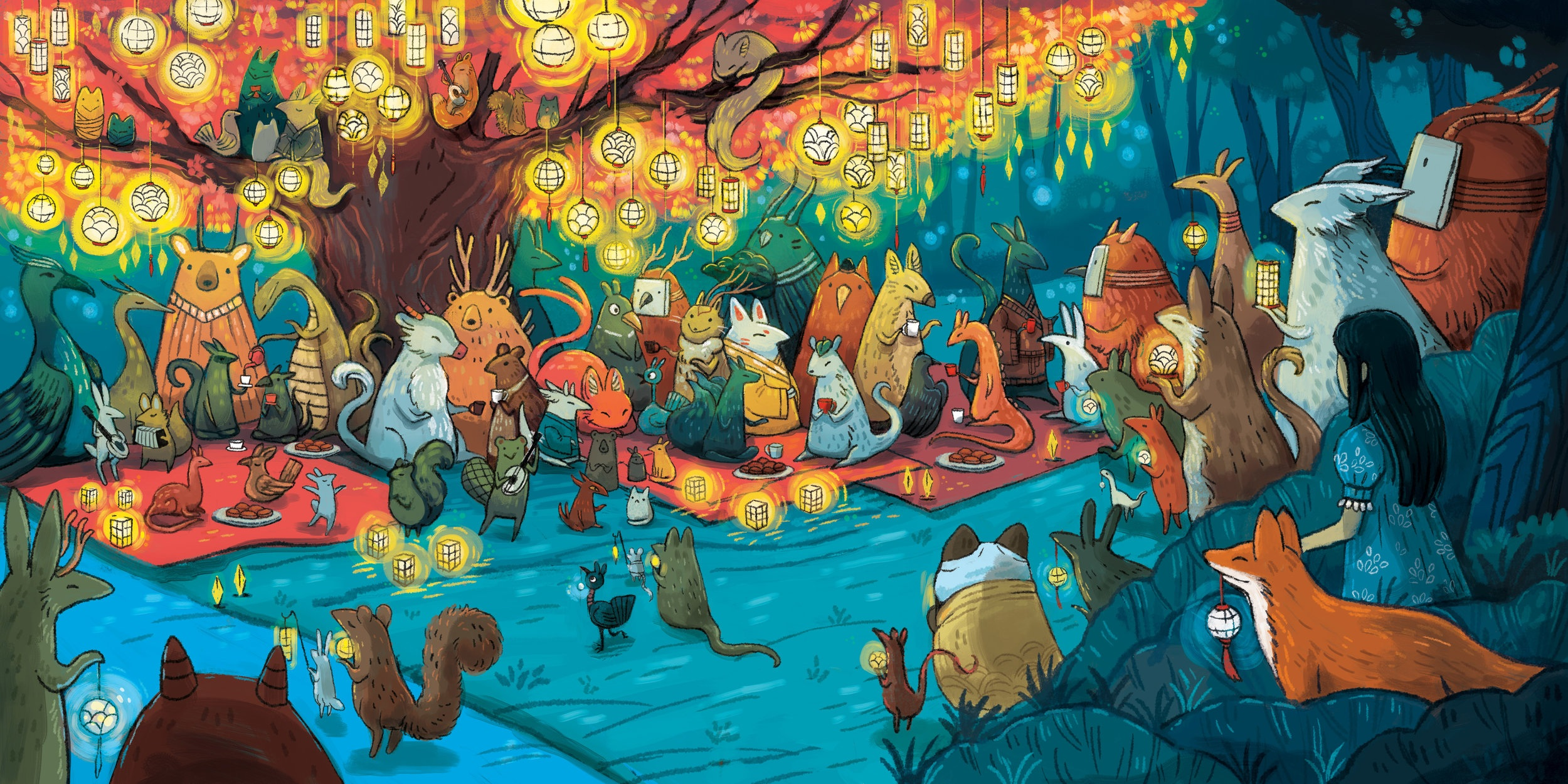 Spread For Upcoming book called   NIGHT FESTIVAL