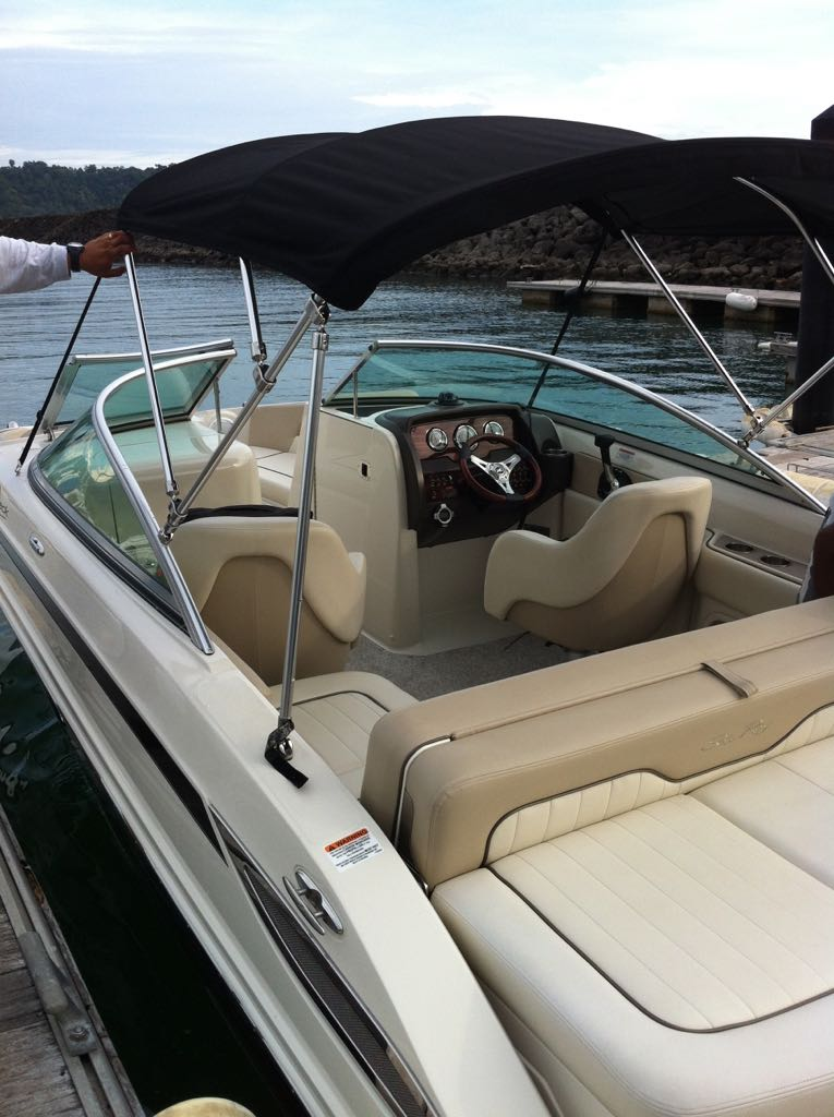 SEA RAY SUNDECK 220, 2010. 23ft. Asking $ 30.000.- with TRAILER !!