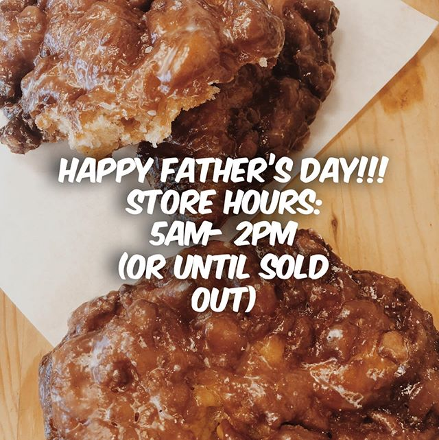 To our amazing Fritter Father's and all Father-Like Guardians, we celebrate you today, and thank you for your unconditional love and guidance for all those that need you the most❤️. Happy Father's Day, from Donutsville 🍩💛. #donuts #fathersday #applefritters #fritterfathers