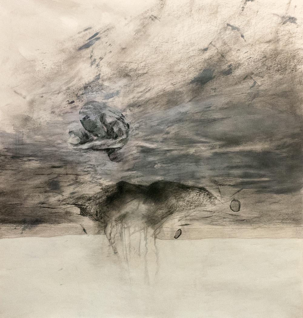 "Awakening, Mixed Media on Paper, 38"" x 40"", 2013"