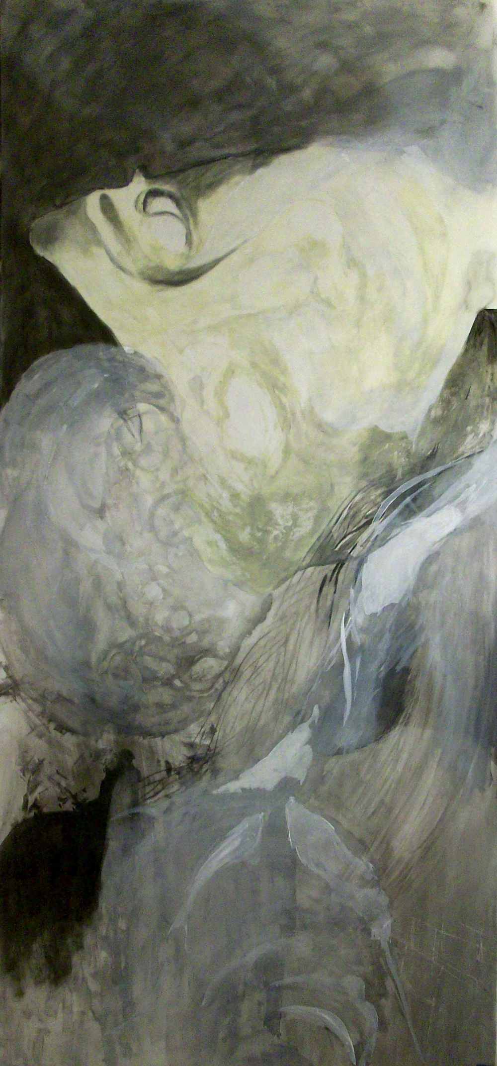 "Ella Esperandome, Mixed Media on Dura-Lar, 40"" x 90"", 2012"