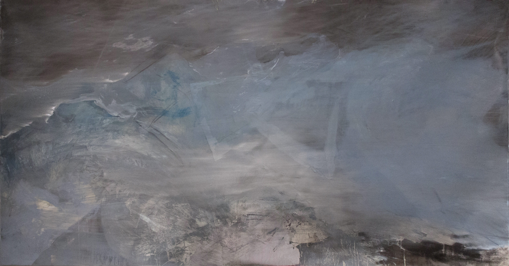 Magma, Mixed Media on Paper, 78in x 40in, 2014