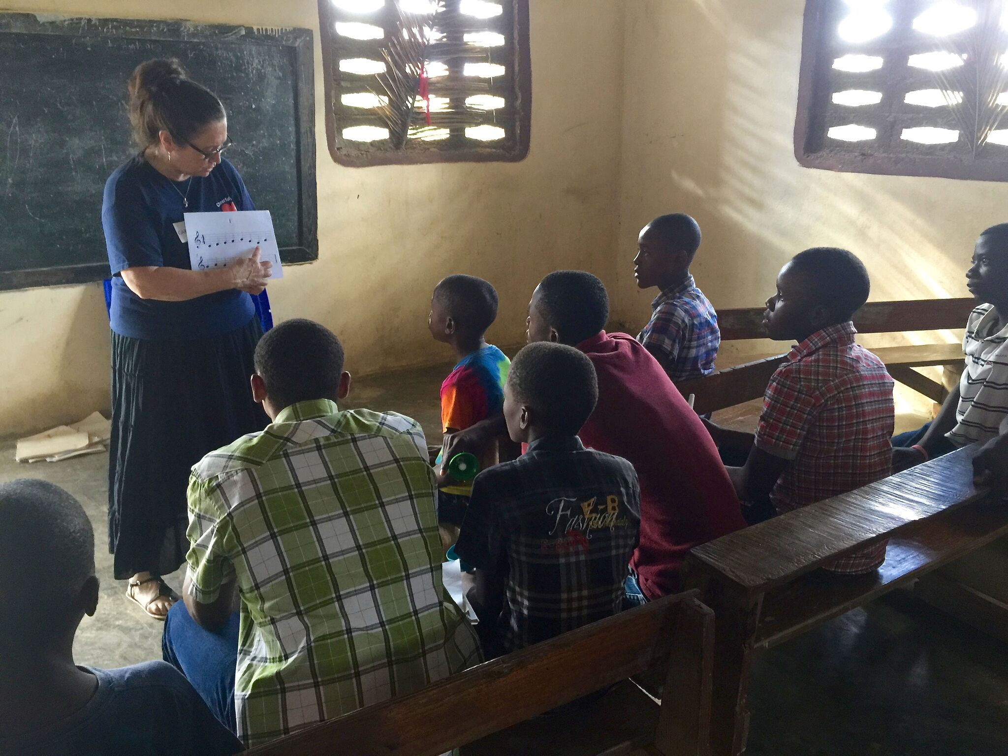 Carol Taubl, Director of Sound Affect, Provides Instruction in Haiti