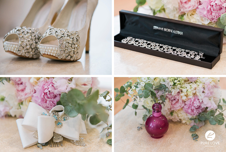 stunning bride's details