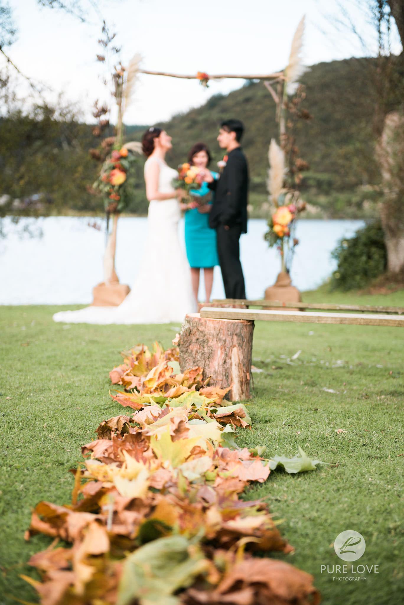 autumn wedding ceremony