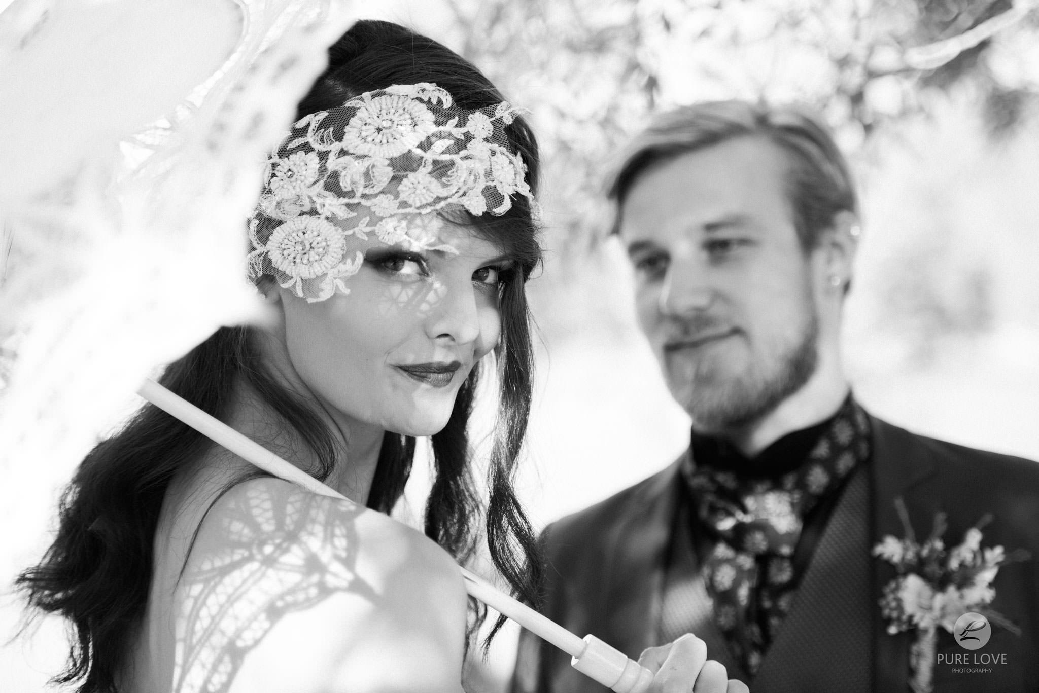 boho wedding black and white
