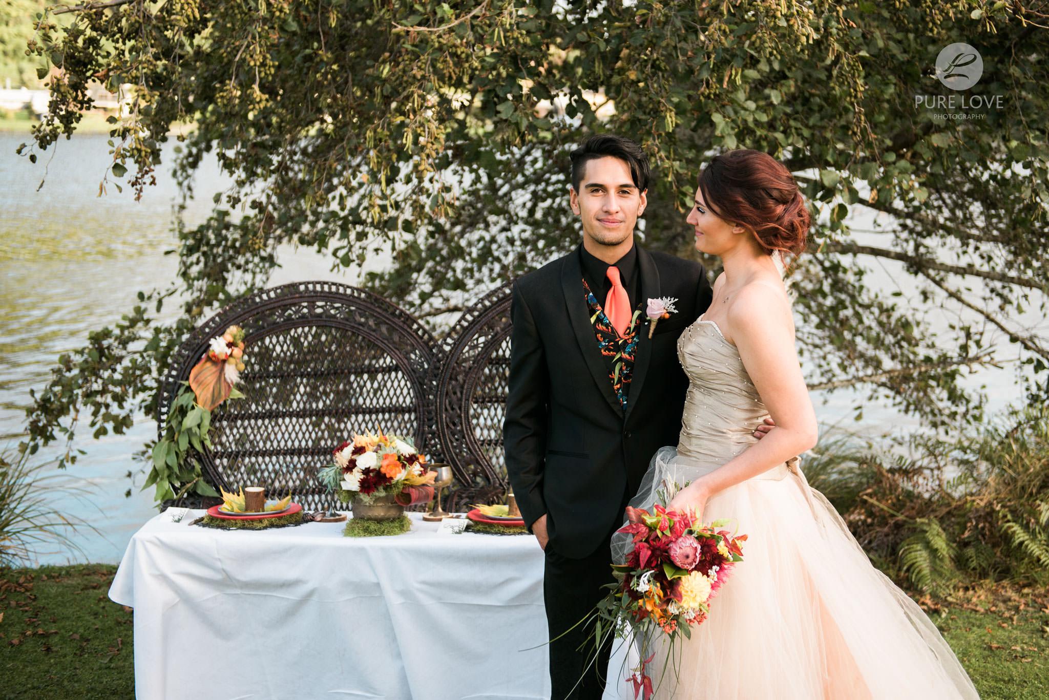 rustic wedding at the lake