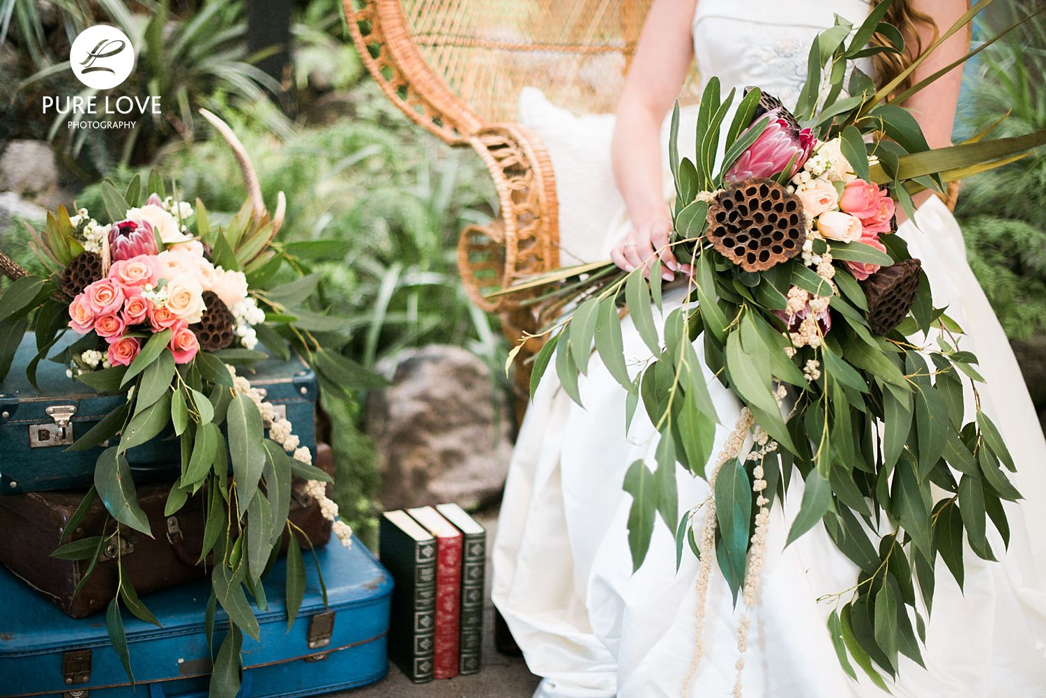 Breathtaking rustic wedding bouquet made by  The Naked Florist , Rotorua.