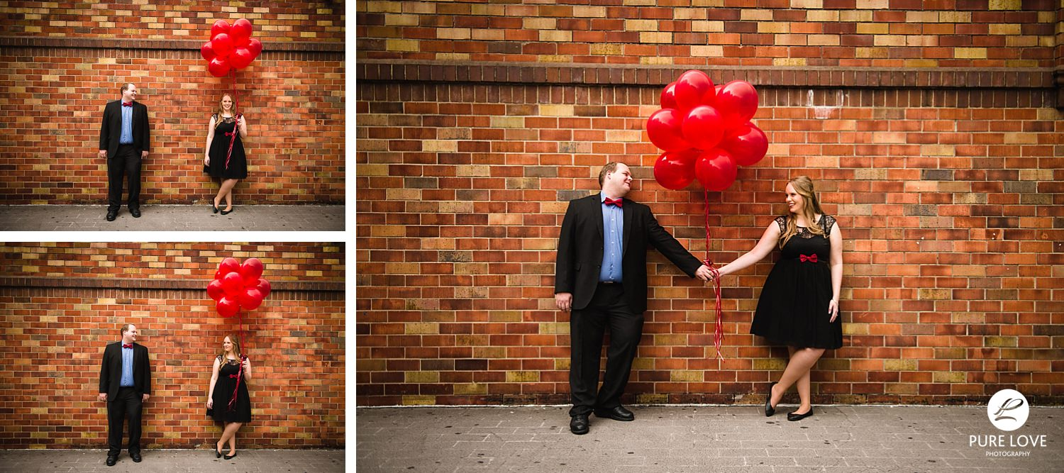Fun Engagement Session with balloons
