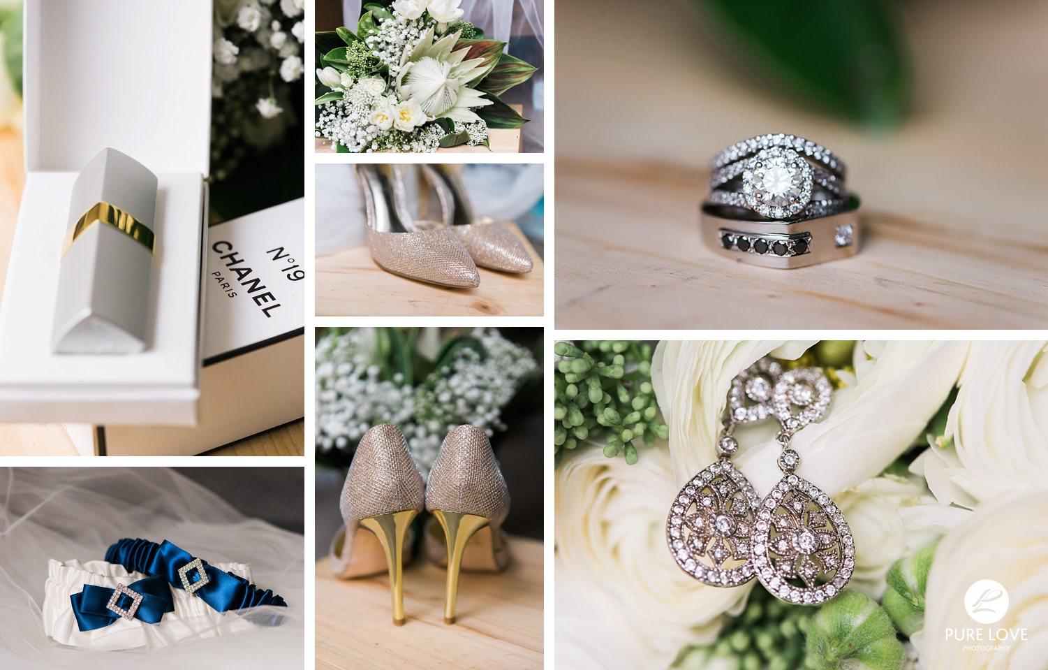 Bride's details. Love these stunning Gold bridal shoes
