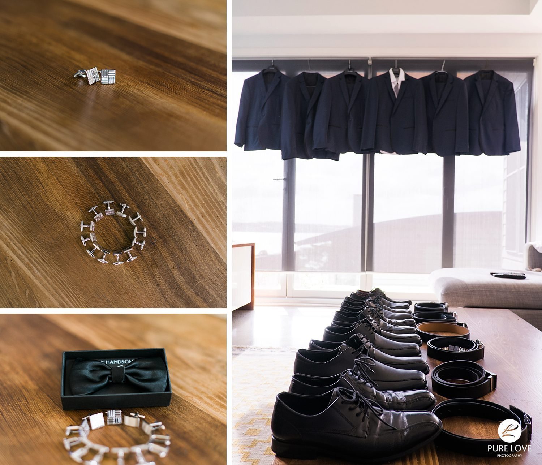 Grooms details. Suits. cufflinks