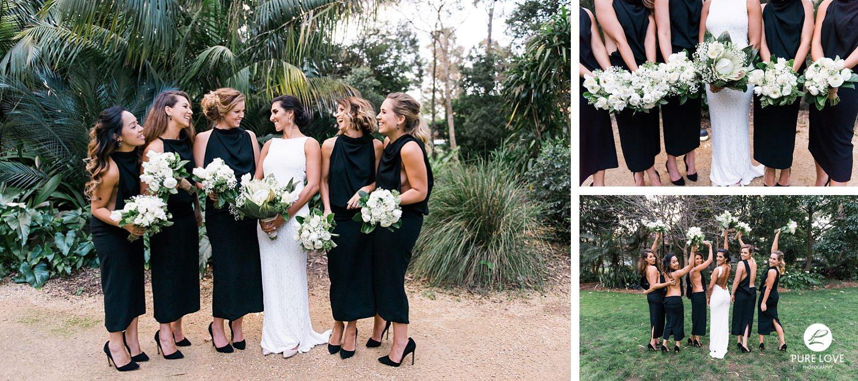black backless bridesmaid dress