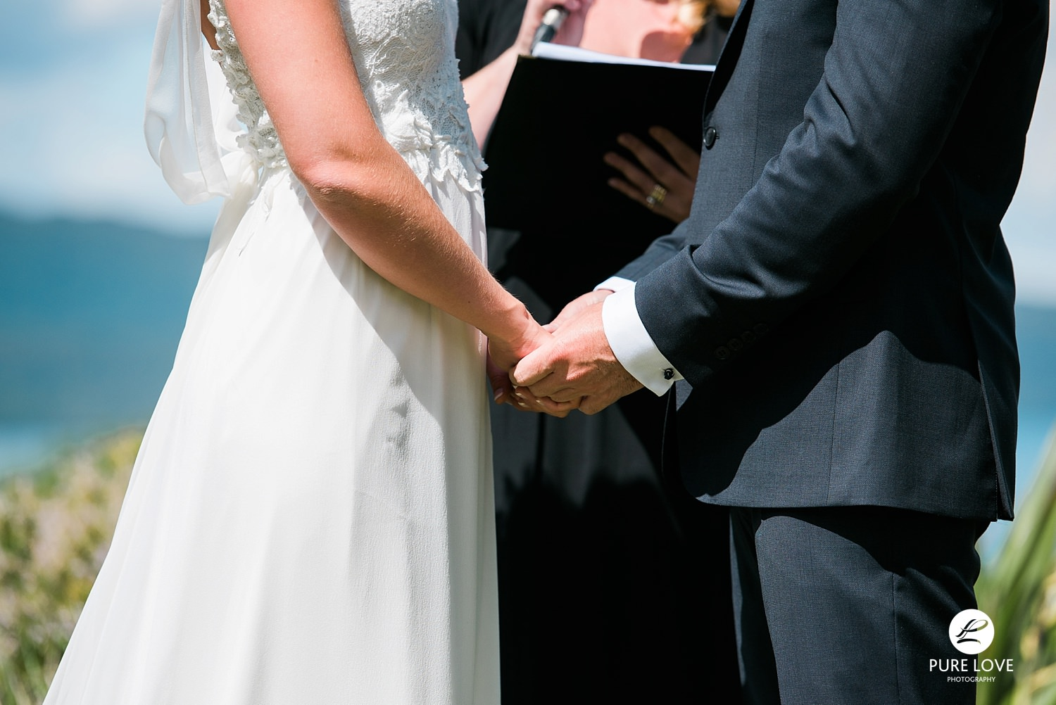 ceremony holding hands