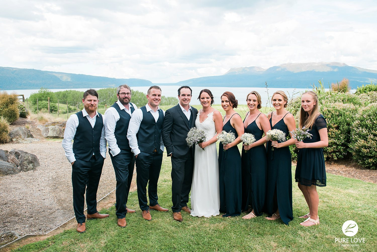 bridal party lake tarawera