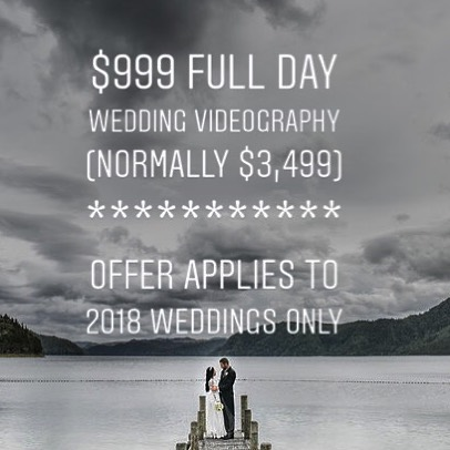 Is your wedding coming up this year? Don't have a videographer yet? We have something SPECIAL for you! Get: ☀️cinematic wedding highlights video, plus ☀️ceremony & speeches video  for ONLY $999.  Offer valid for 2018 weddings only. Limited dates available.  #weddingvideography #rotoruavideographer #nzvideographer