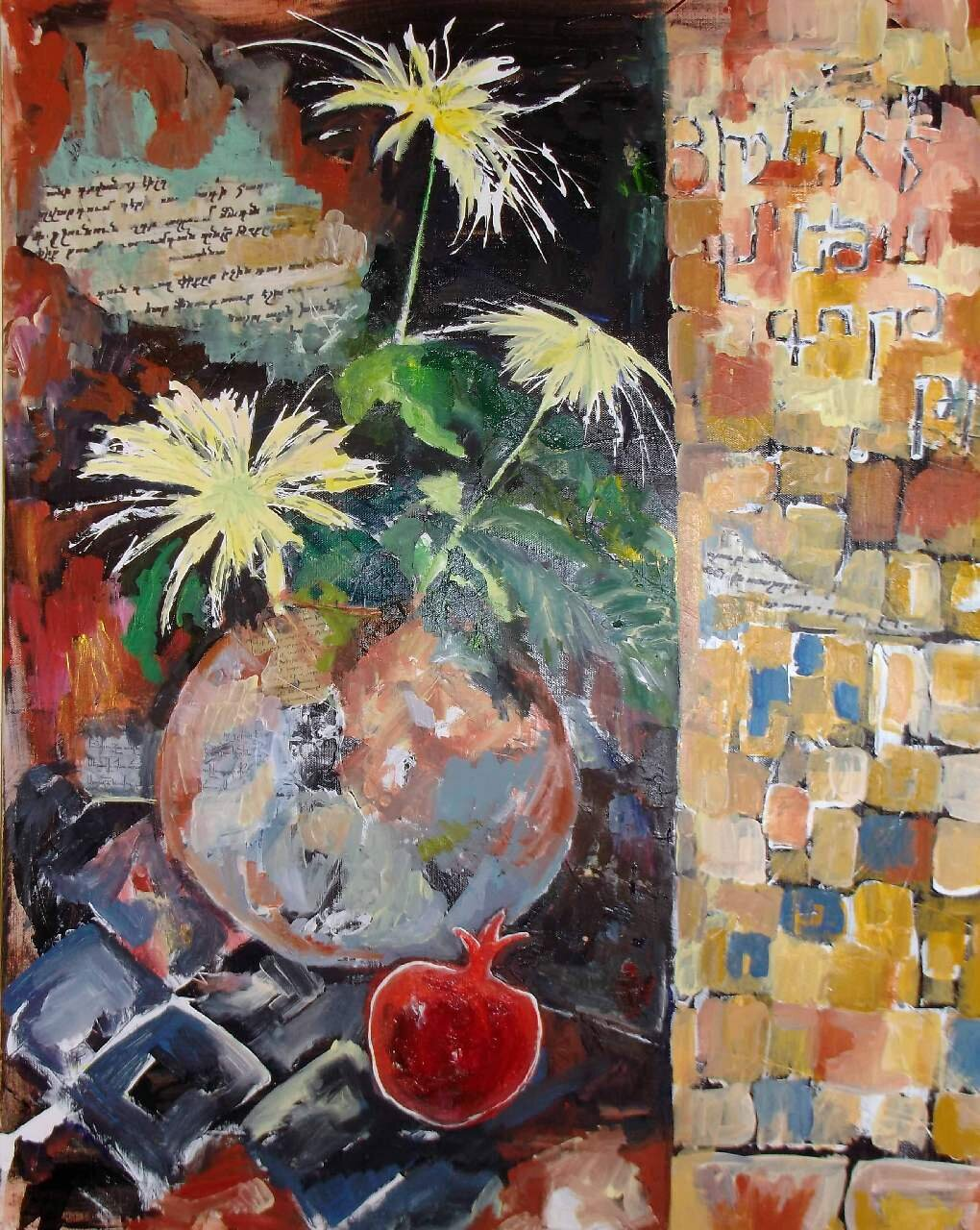 10 Reflection from Yesterday No 1  Mixed-media on canvas.jpg