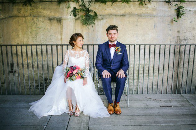 Wedding photography - Judy and Pads - White magazine feature