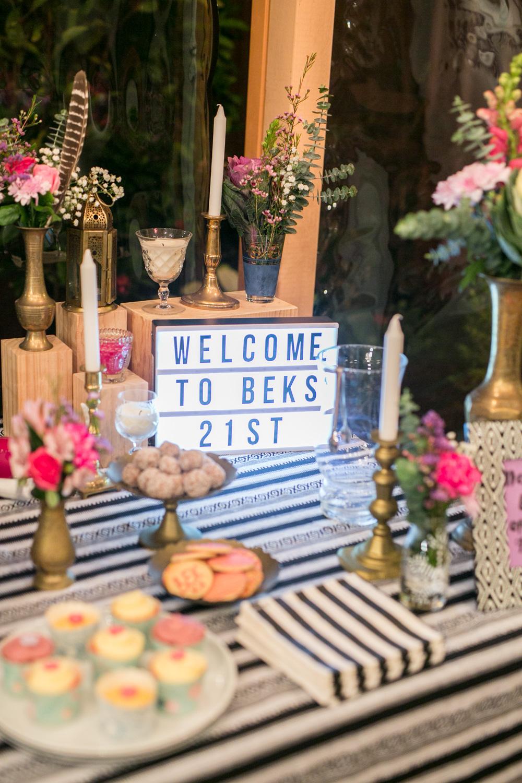 Bek's 21st Birthday {Event Styling}
