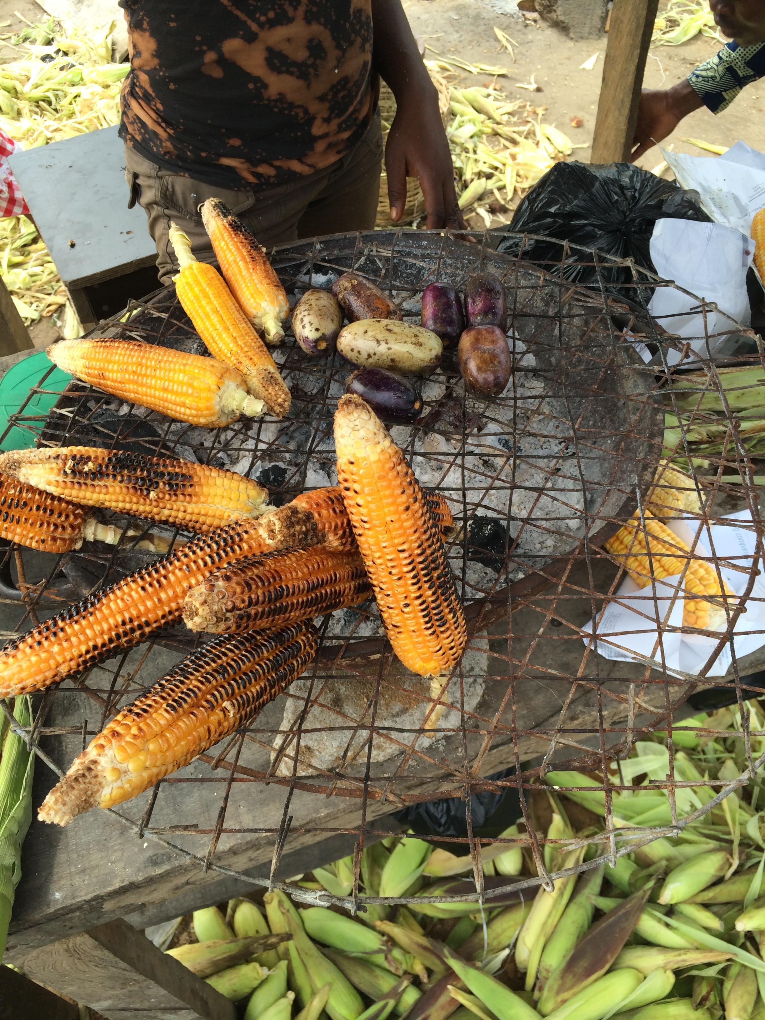 The best street food in Nigeria - Roasted Corn