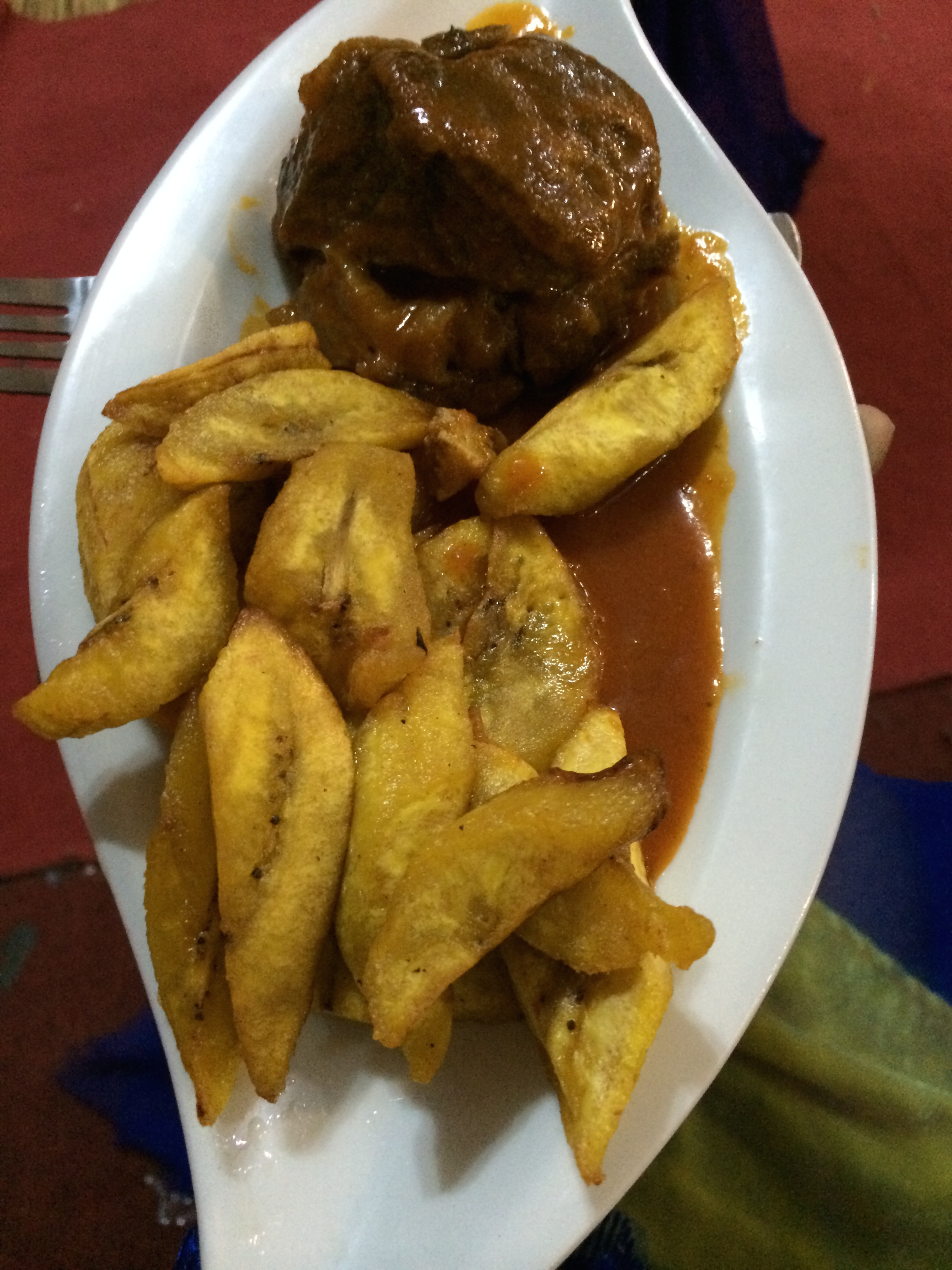Food - Plaintain and Liver (Don't knock it until you try it)