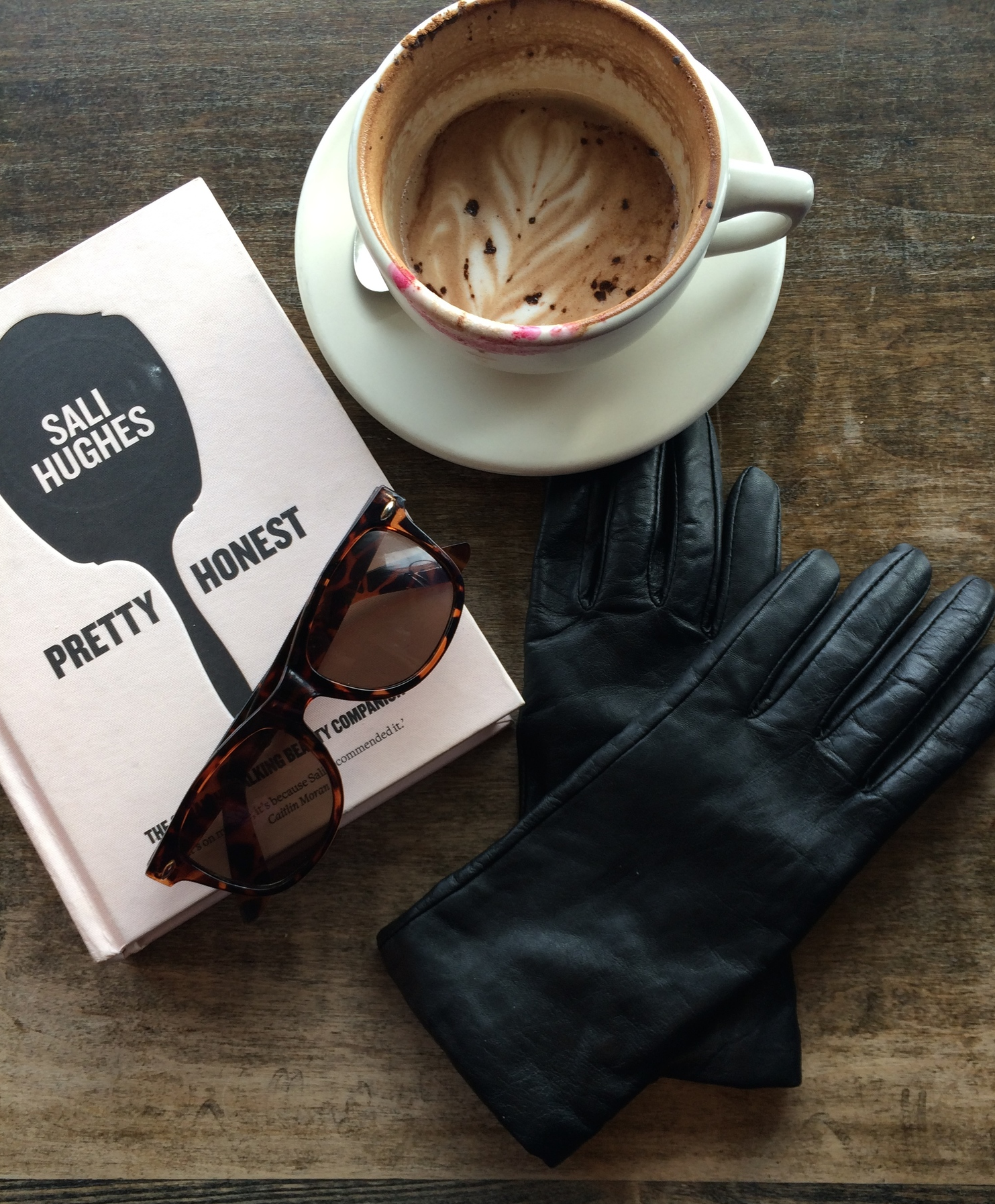 10. Memories of my weekend in Boston: Sali Hughes's Pretty Honest   Lined Leather Gloves   Coffee at Simon's