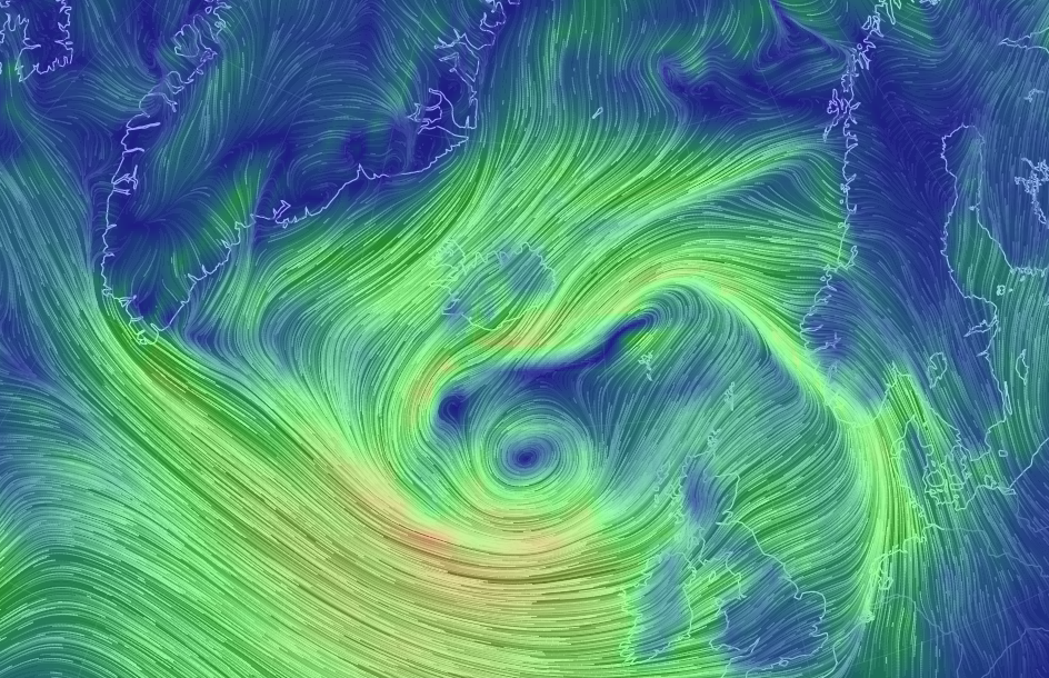 An animated map of global wind and weather