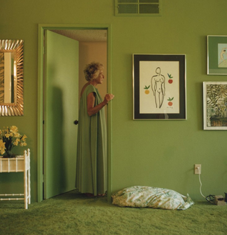 Photographer Larry Sultan takes pictures of his parents home.