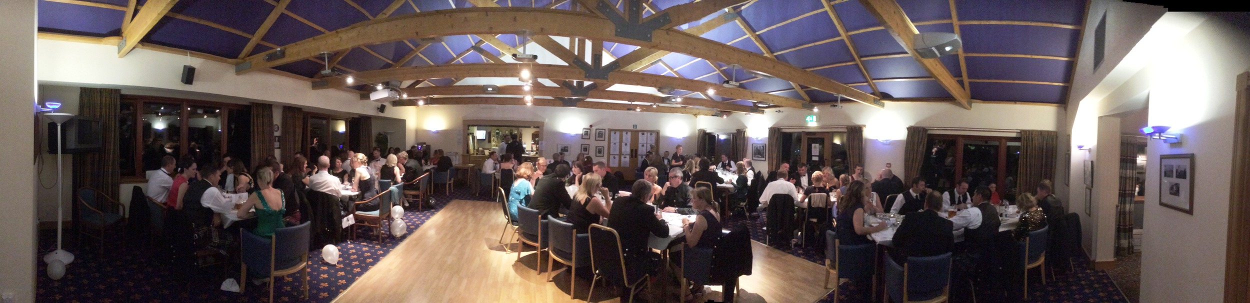 The Odd Shaped Ball raised £3,000 for junior sport and attracted a packed clubhouse of more than 100 guests