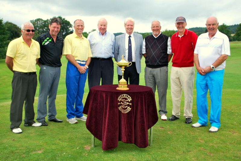 PAST CAPTAINS CELEBRATE THE RYDER CUP TROPHY COMING TO PEEBLES IN THE SUMMER OF 2014