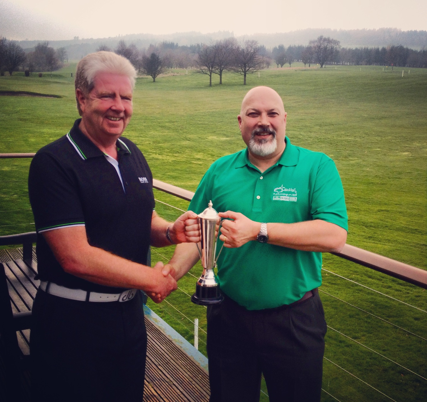 ALAN WINNING the annual captains v vice-captains challenge match