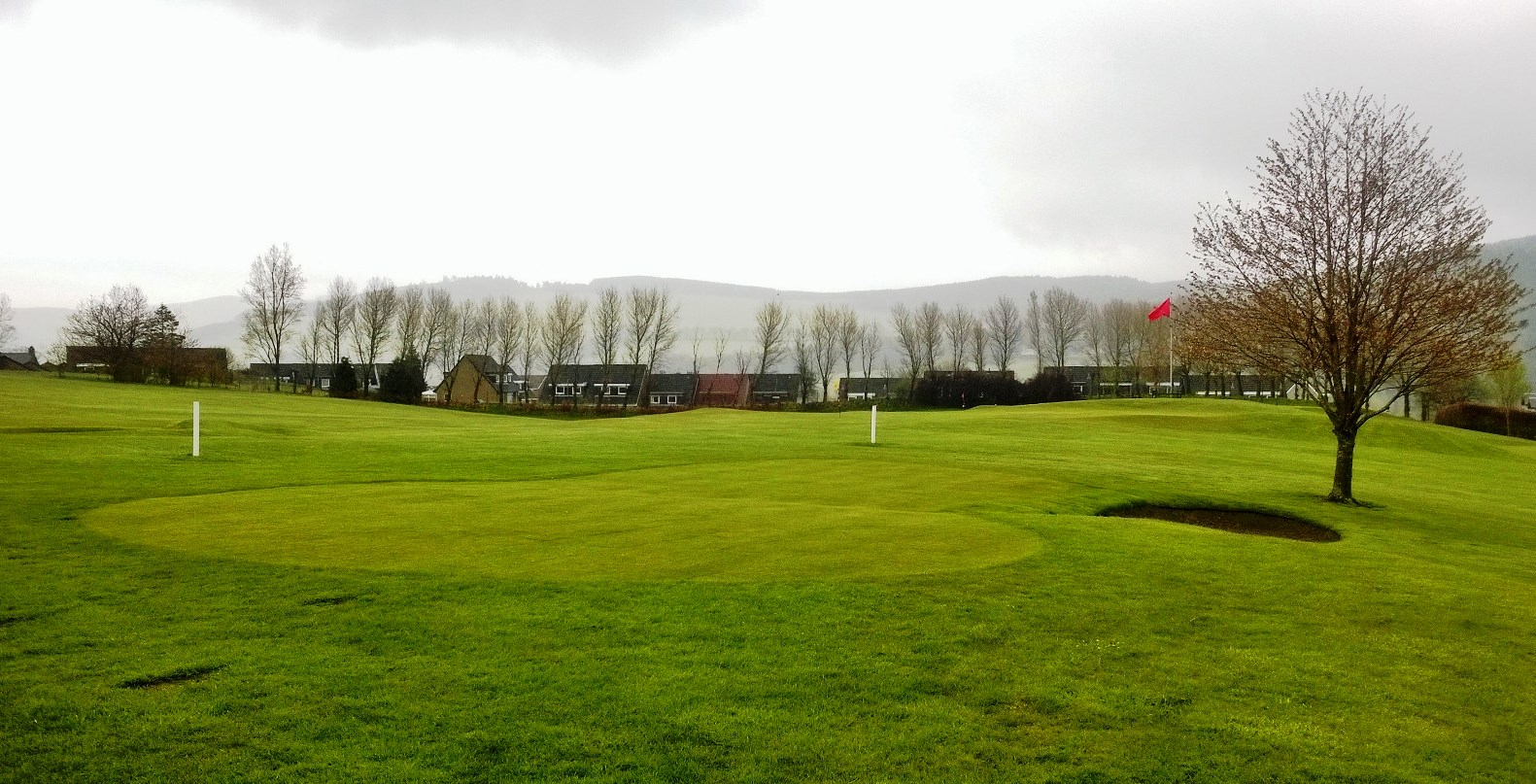 the new short game area on the practice ground