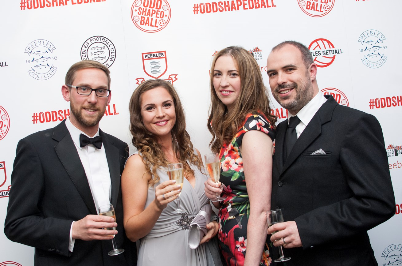 Guests lined up on the red carpet at the Odd Shaped Ball
